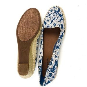 Lucky Brand Shoes - Lucky Brand Canvas Floral Print Slip On Wedge